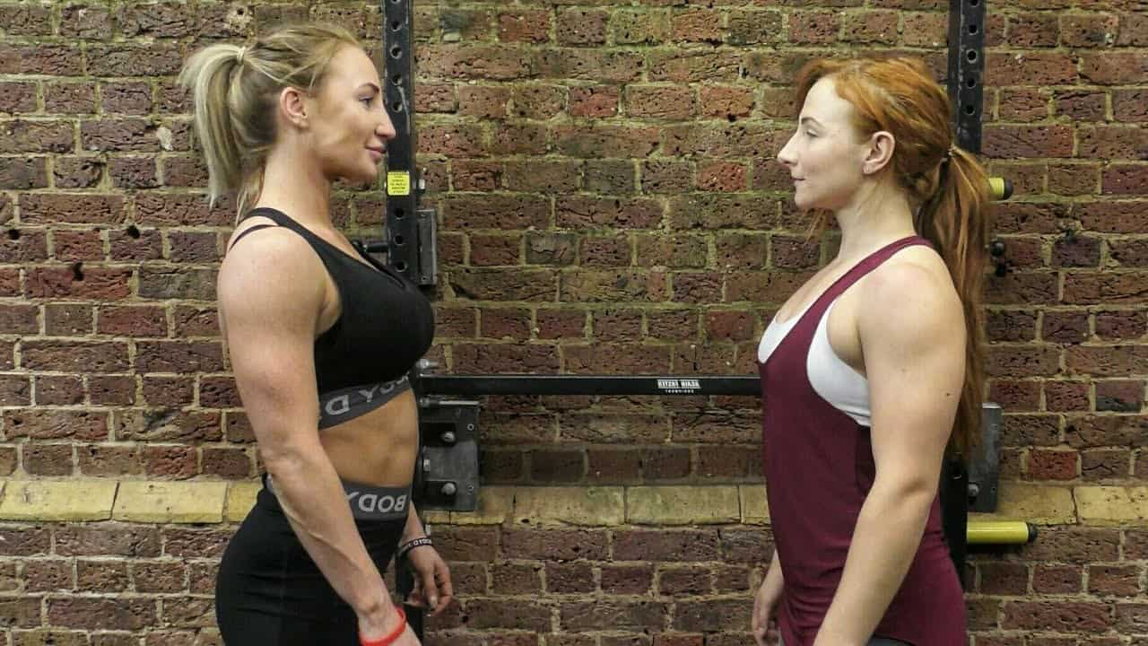 Female bodybuilder and powerlifter