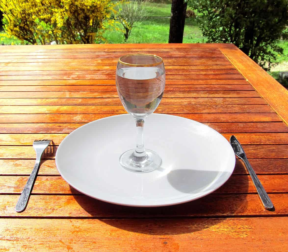 glass of water fasting